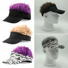 AU Funny Men Adjustable Flair Hair Visor Cap Golf Baseball Hat Fashion Wig Cap