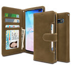 Tender leather Quick Flip wallet Case for Galaxy S10 S9 S8 S7 S6 / Note9 Note8