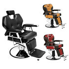 Hydraulic Reclining Barber Chair Heavy Duty Salon Hair Styling Shave Equipment