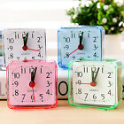 Square Small Alarm Clock Living Room Quartz Travel Portable Alarm Clock Analogue