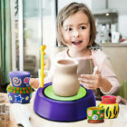 DIY Mini Handmake Ceramic Pottery Machine Pottery Wheels Kids Arts Craft image