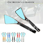 Aluminum Triangle Rearview Side Mirror For KAWASAKI ZX10R ZX12R ZX14R/9R ZZR1400