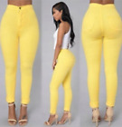 Women High Waisted Denim Jeans Stretchy Ripped Skinny Pencil Slim Trousers Pants