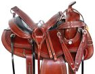 Western Pleasure Trail Gaited Leather Used Horse Saddle Tack 16 17 in