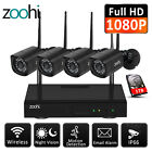 ZooHi Wireless WIFI 1080P Security Camera HDMI Home Outdoor IP Camera System Kit