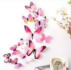12pcs PVC 3d Butterfly Wall Decor Cute Butterflies Wall Stickers Art Decals for sale  Shipping to Nigeria