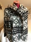 American Rag CIE Women's Fuzzy Geometric Hooded Sweater Size Small