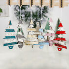 1 creative christmas decorations wooden painted multicolor tree string pendant