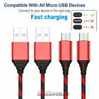 2-Pack Micro USB Charger Fast Charging Cable Cord For Samsung LG Android Phone