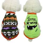 Puppy Pumpkin Dog Halloween Pumpkin Coat Costume Clothes Pet Vest T-shirt