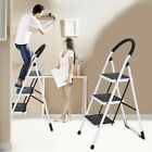 2-3 Step Ladder Folding Stool Steel Ladder With Handle Anti-slip Solid Pedal