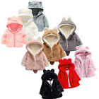 Toddler Baby Girl Winter Warm Coat Fleece Thick Hooded Windproof Jacket Outwear