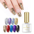 BORN PRETTY 6ml Glitter UV Gel Nails Polish Shining Black Gold Silver Soak off