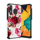 For Samsung Galaxy A10e A50 A20 A30 Case Dual Layer Rubber Cover +Tempered Glass