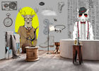 3D Deer Head B40 Wallpaper Wall Mural Removable Self-adhesive Sticker Zoe