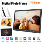 """7""""/15"""" Digital Photo Frame Electronic Album Picture Video Player Remote Control"""