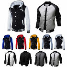 Mens Baseball Jacket Sweatshirts Hoodies Coats Casual Sweater Outwear Sports Top