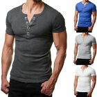 Fashion Men's Casual Fit Short Sleeve Slim Muscle Bodybuilding T-shirt Tee Tops image