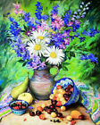 Floral DIY Paint By Number Kit Hand-painted Oil Painting Art Home Decor Gift