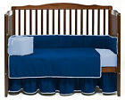 Unisex Baby Cradle Bedding Reversible Bumpers Set Solid Colors