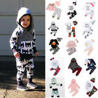 Toddler Baby Girl Boy Outfit Top Pant Tracksuit Autumn Winter Cotton Clothes Set
