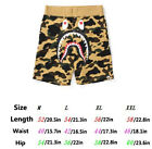 A Bathing Ape Shorts Bape Camo Shark Pants US Stock US size