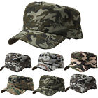 Mens Camouflage Flat Trucker Military Army Tactical Camo Casual Hat Baseball Cap
