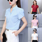 Ladies Blouse Women Tops Blouse Loose Plus Size Fashion Evening V-Neck