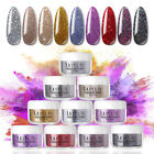LILYCUTE 5g Dipping Nail Powder Glitter Sliver Golden Nail Art Starter Kit