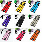 Unisex Elastic Y-Shape Braces Mens Womens Adjustable Clip-on Suspenders Adjust