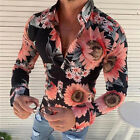 Fashion Men's Slim Fit V Neck Long Sleeve Muscle Tee T-shirt Casual Tops Blouse image