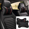 For All Car SeatAccessoriesHead Neck Rest PU Leather Cushion Pad Headrest Pillow