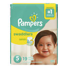 Baby Diaper Pampers® Swaddlers™ Tab Closure Size 5 Disposable Heavy Absorbency