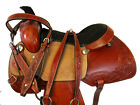 ROPING SADDLE WESTERN COWBOY SHOW PLEASURE TRAIL FLORAL TOOLED LEATHER 15 16 17