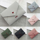 Women Small Short Money Purse Wallet Envelope Leather Folding Coin Card Holder image