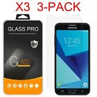 3-Pack Shockproof Tempered Glass Screen Protector for Samsung Galaxy J7 2017