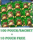 100 + 12 Packets Free Bru Instant Coffee Pouch - Makes 112 Cups Great Coffeee FS
