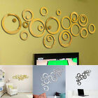 Diy Modern Circles Round Acrylic Mirror Wall Stickers Living Room Decoration