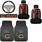 7pc NFL Chicago Bears Car Seat Covers Floor Mats Steering Wheel Cover Set