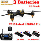 Hubsan H501S S Pro FPV Drone Quadcopter 1080P Brushless GPS 5.8G Video+3Battery