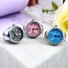 Unique Fashion Steel Round Elastic Quartz Finger Ring Watch Lady Girl Gift KW image