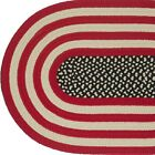 AMERICANA Braided Patriotic Area Rug FARMHOUSE PRIMITIVE - MADE IN USA