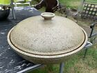 David Cressey Terra Major Gourmet Ware Architectural Pottery HUGE Dish & Lid 18""