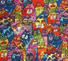 Kyпить Feline Frolic Cats Gold Accent Cotton Quilt Fabric Laurel Burch Clothworks  на еВаy.соm