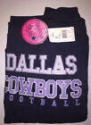 Women's Dallas Cowboys Majestic Navy Glitter Pullover Hoodie Plus Size New NWT $26.0 USD on eBay