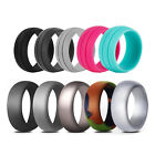 12packs Medical Grade Silicone Wedding Ring Flexible Sport Rubber Band Size 4-14