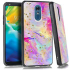 LG Stylo 5 Chrome Flake Marble Case Protective Cover