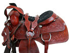 COWBOY WESTERN ROPING SADDLE HORSE SHOW RANCH WORK FLORAL TOOLED LEATHER 16 17