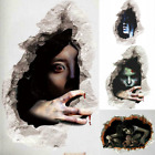 3d Scary Ghost Wall Stickers Removable Horror Wall Decals Halloween Home Decor