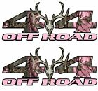 New Pair 4x4 Off-Road Pair Pink Camouflage Truck Bed Stickers Decals-T-11
